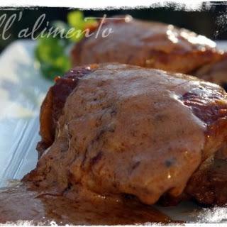 Pollo allo Spumante {Chicken w/Sparkling Wine}.