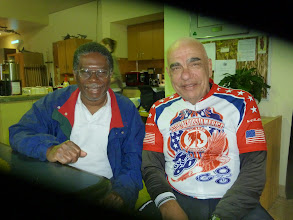 Photo: Day 2 VA Hosp Grant and Dale. Grant 60 yrs old, had stroke is planning to run a marathon