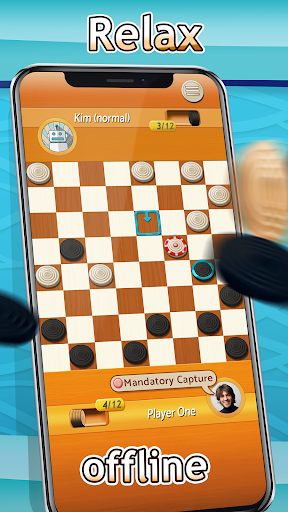 Checkers - Draughts Multiplayer Board Game screenshots 2