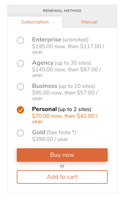 updraftplus wordpress backup plugin pricing