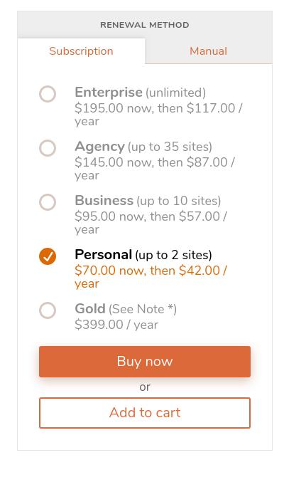 updraftplus wordpress backup plugin pricing