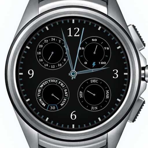 Dial-4 Platinum Watch Face HD