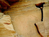 Photo: Faded pictographs