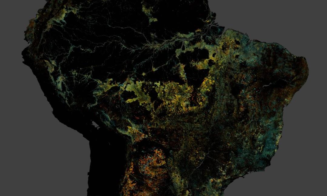 南米の衛星写真