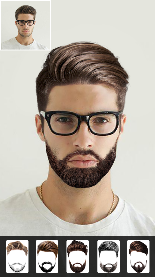 Beard Photo Editor - Hairstyle- screenshot