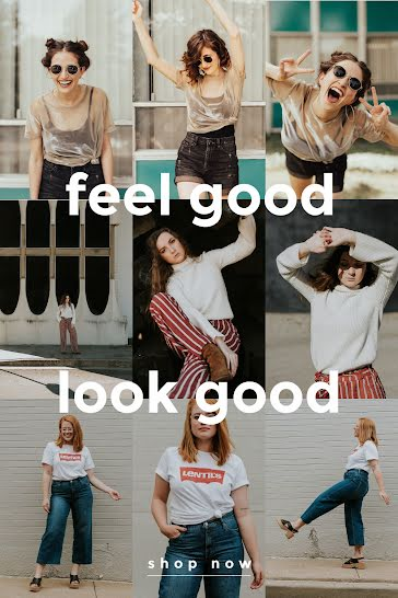 Feel Good Look Good - Pinterest Pin Template