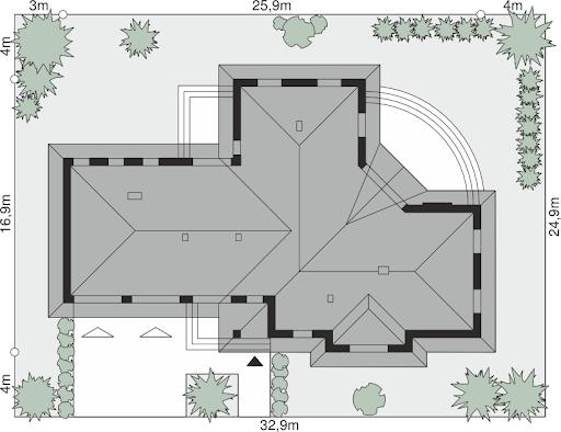 Dom przy Parkowej 3 - Sytuacja