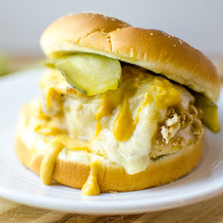 Honey Oats and Swiss Baked Chicken Burger.