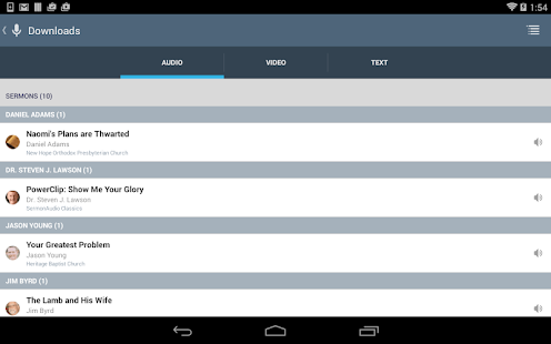 SermonAudio Android Edition- screenshot thumbnail