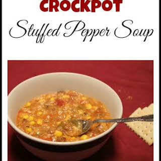 Crock Pot Stuffed Pepper Soup.