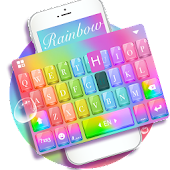 Keyboard-Glass Rainbow Colorful Super 3D Theme