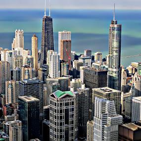 chicago skyline 1 by Jon Radtke - City,  Street & Park  Skylines ( chicago skyline 1,  )