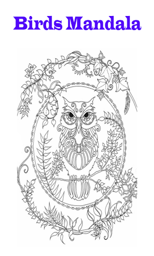 Mandala Coloring Book Of Birds