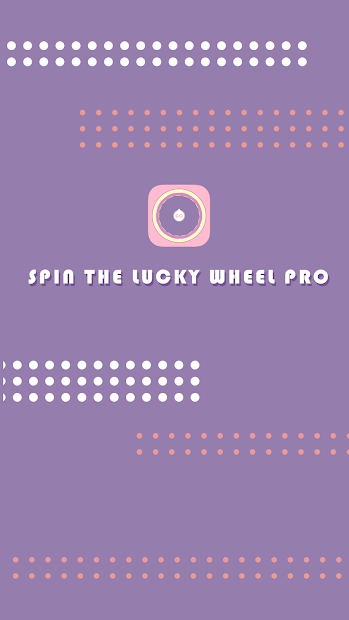 Spin The Lucky Wheel Pro Android App Screenshot