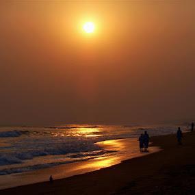 In golden light by Atreyee Sengupta - Landscapes Sunsets & Sunrises