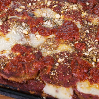 Eggplant Pizza with Sicilian Crust