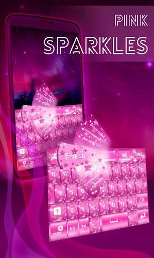 Pink Sparkles Keyboard