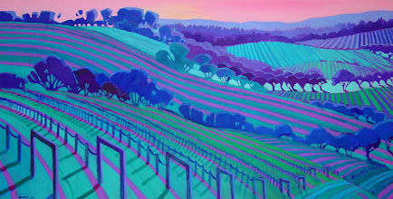 Photo: Alexander Valley, acrylic on canvas by Nancy Roberts, copyright 2014. Private collection.