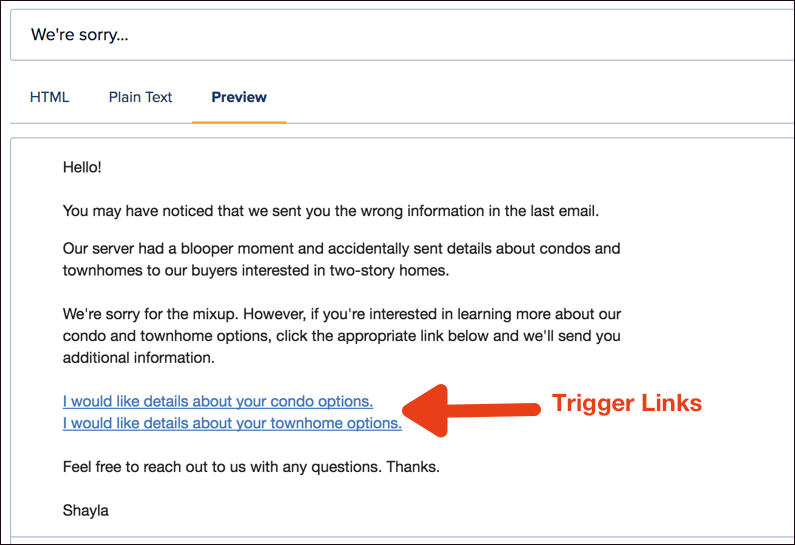 Once The Person Clicks Trigger Link Automation Rule Connected To Will Instantly Ly Your Desired Tag That Way You Can Add