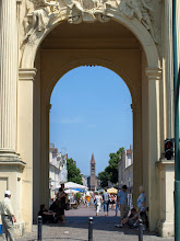Photo: looking through the Brandenburg Gate to the Church of St Peter and Paul - photo miltoncontact.com