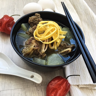 Galbitang Korean Beef Short Ribs Soup.