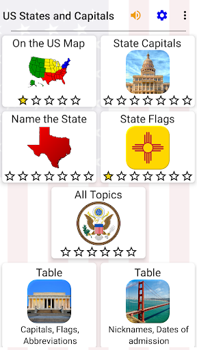 50 US States Map, Capitals & Flags - American Quiz 3.0.0 screenshots 9