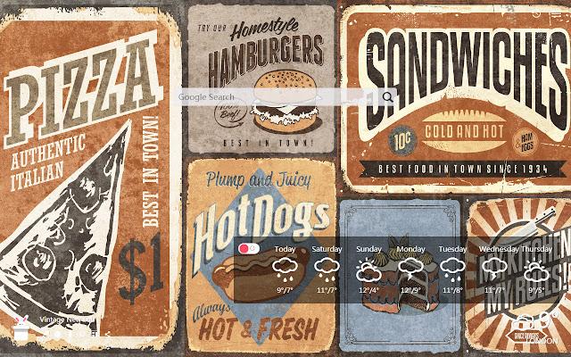 Vintage New Tab, Wallpapers HD