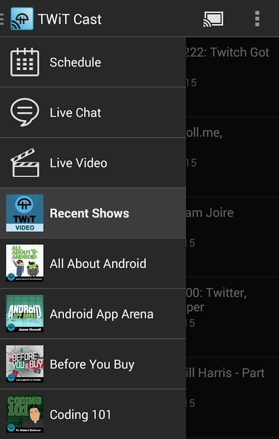 TWiT Cast for Chromecast - screenshot