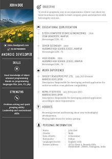 resume maker pro screenshot thumbnail - Resume Maker Pro