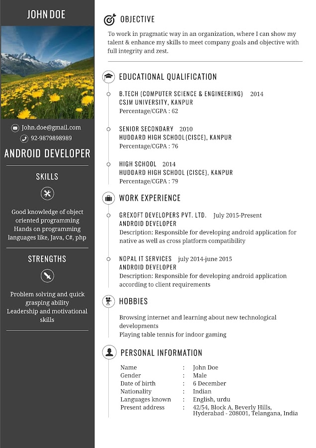 gx resume pro screenshot