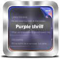 Emoción púrpura GO SMS icon