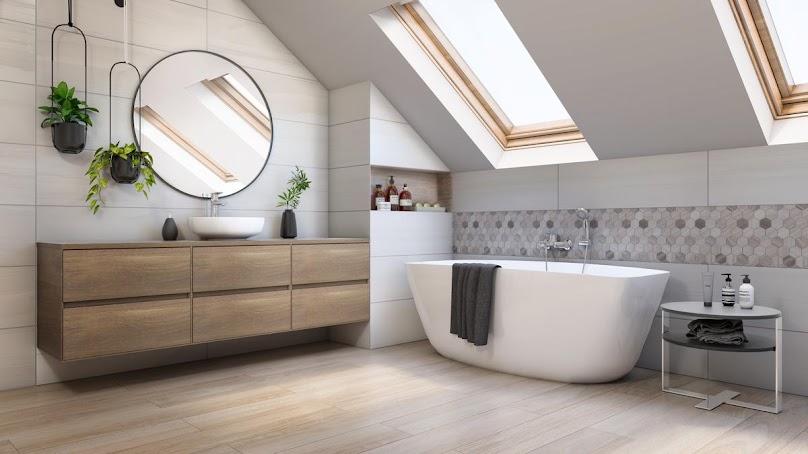 Przykładowa aranżacja dobrze urządzonej łazienki