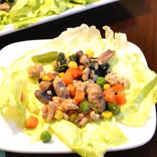 Chicken Lettuce Wraps.