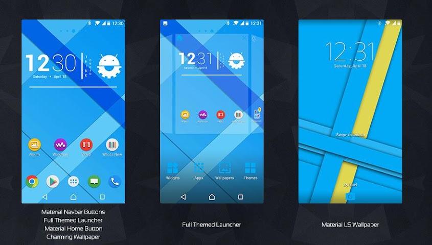 android MaTeRiaL Blue Theme KK Screenshot 0