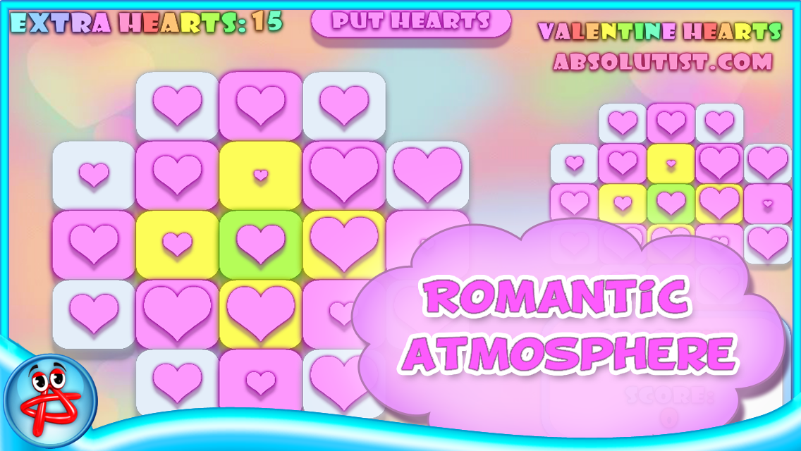 Valentine Hearts:Match3 Puzzle- screenshot