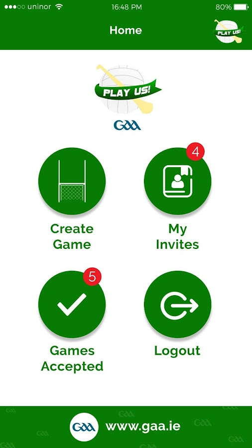 Play Us GAA- screenshot