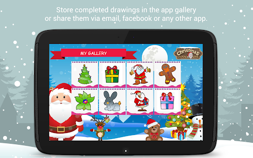 Christmas Coloring Book 🎅 Santa game for kids- screenshot thumbnail