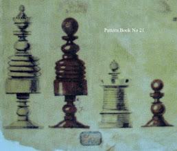 Photo: Bone Chessmen - No 21  Jaques 'Pattern Book'