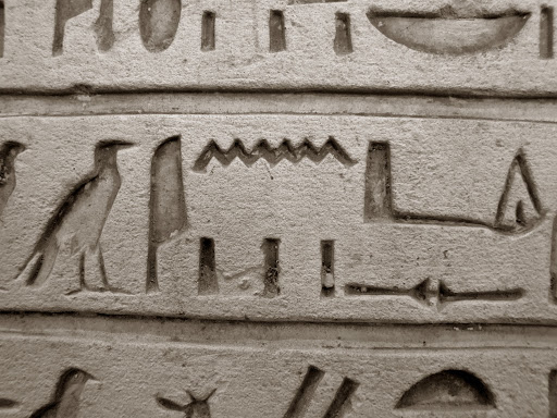 british-museum-hieroglyphics.jpg - Hieroglyphics on a tablet in the British Museum in London.