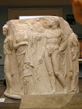 Photo: Ephesos, part of a column from the Temple of Artemis (British Museum)