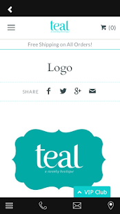 Teal a swanky boutique- screenshot thumbnail