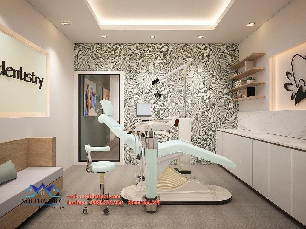 thiết kế phòng khám răng lịch sự