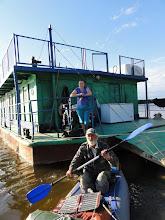 Photo: Нас провожает Светлана - дежурная хозяйка на базе.