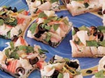 Seafood Cocktail Pizza Appetizer