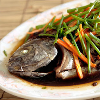 Steamed Whole Pompano with Black Bean Sauce
