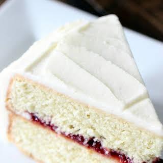 Lemon Cake with Raspberry Filling.