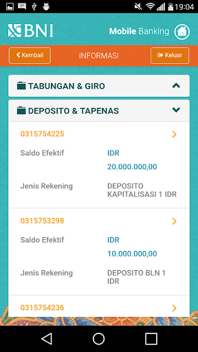 BNI Mobile Banking  screenshots 2