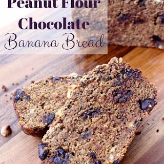 Peanut Flour Chocolate Banana Bread.
