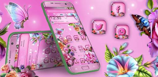 Pink Love Rose Garden Theme Aplikacii Na Google Play