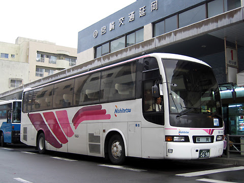 西鉄「ごかせ号」 3131 延岡駅前バスセンターにて